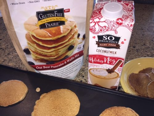 Gluten Free Holiday Nog Pancakes with Coconut Milk