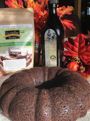 Gluten Free Prairie Orphan Girl Brownie Pudding Cake